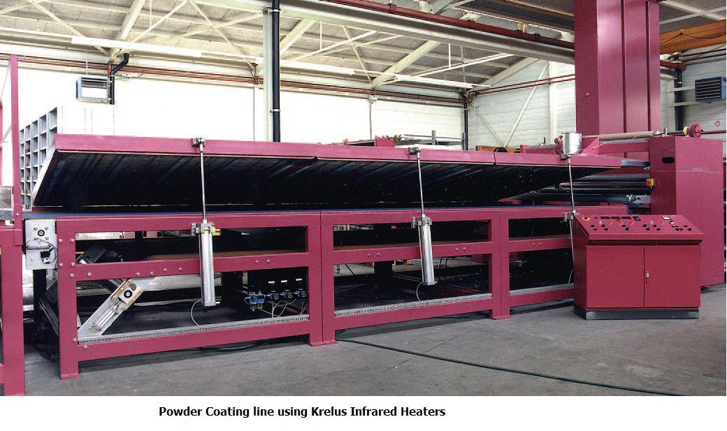 IR heaters powder coating